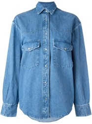 Golden Goose Deluxe Brand Classic Denim Shirt Blue