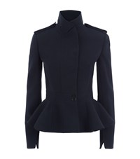 Alexander Mcqueen Peplum Military Jacket Female