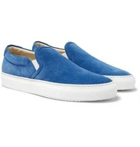 Common Projects Suede Slip On Sneakers Blue