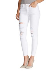 William Rast Distressed Ankle Length Pants White