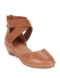 Gentle Souls Noa Leather Dorsay Sandals Mid Brown