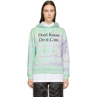 Ashley Williams Green Tie Dye 'Don't Know' Hoodie