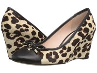 Kate Spade Kacey Blush Brown Leopard Haircalf Print Women's Shoes Animal Print
