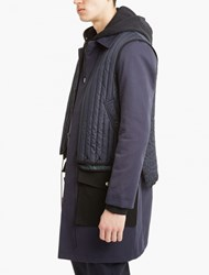 Tim Coppens Blue Panelled Trench Coat Navy