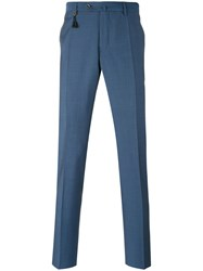 Incotex Tailored Trousers Men Mohair Wool 58 Blue