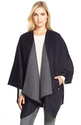 Michael Michael Kors Two Tone Wool Blend Cape Navy Grey
