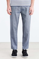 Your Neighbors Ronin Pleated Tapered Chino Pant Navy