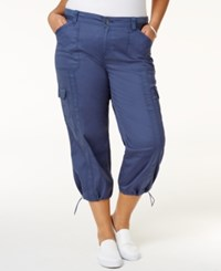 Styleandco. Style Co. Plus Size Capri Cargo Pants Only At Macy's New Uniform Blue
