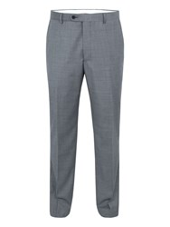 Paul Costelloe Soho Sharkskin Wool Suit Trousers Grey