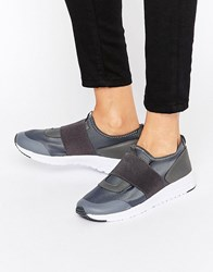 Missguided Elastic Strap Trainer Grey