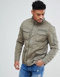 Blend Of America Military Jacket In Khaki Dusty Olive Green