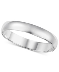 Macy's Men's 14K White Gold Ring 4Mm Wedding Band