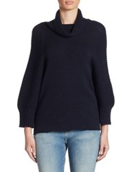 Armani Collezioni Wool And Cashmere Sweater Navy