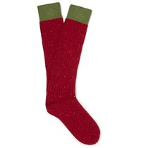 Gucci Elange Wool Blend Socks Red