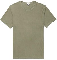 James Perse Slim Fit Combed Cotton Jersey T Shirt Green