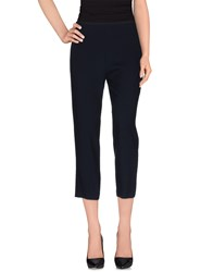 Pianurastudio Trousers 3 4 Length Trousers Women Dark Blue