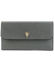 Valextra Continental Wallet Grey