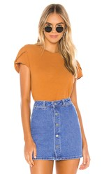 Free People Latte Tee In Orange. Honey