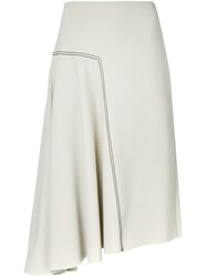 Bassike Asymmetric Skirt Grey