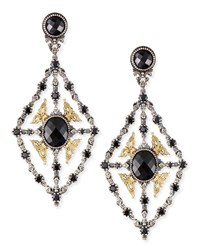 Onyx And Spinel Chandelier Earrings Konstantino Black
