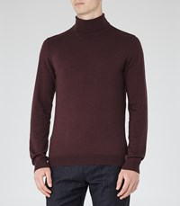 Reiss Observe Mens Rollneck Jumper In Purple