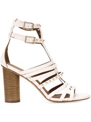Scanlan Theodore Studded Sandals White