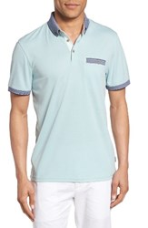 Ted Baker Men's London Shapiro Extra Trim Fit Oxford Polo Mint