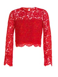 Diane Von Furstenberg Yeva Top Red
