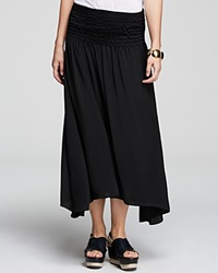 Moon And Meadow Smocked Midi Skirt