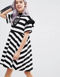 Lazy Oaf Used To Be Weird T Shirt Dress Multi