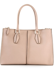Tod's Small 'D Cube' Shopping Tote Pink And Purple