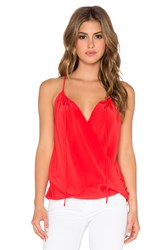 Amanda Uprichard Peasant Cami Red