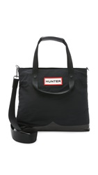 Hunter Nylon Mustache Messenger Bag Black
