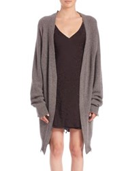 Rta Serge Distressed Oversized Cardigan Space