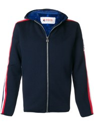 Invicta Side Stripe Hooded Jacket Blue
