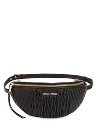 Miu Miu Matelasse Leather Belt Bag Black