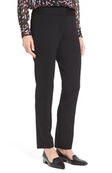 Vince Camuto Petite Women's Ponte Knit Ankle Pants Black