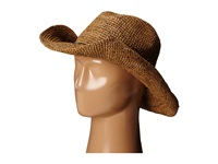 Hat Attack Raffia Crochet Cowboy Tobacco Mixed Metal Beads Traditional Hats