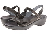 Naot Footwear Reserve Metal Leather Pewter Leather Metal Leather Wedge Shoes