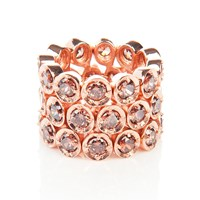 Latelita London Triple Eternity Ring Coffee Rosegold Brown Rose Gold