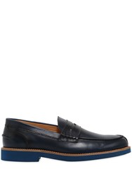 Dino Draghi Brushed Leather Penny Loafers