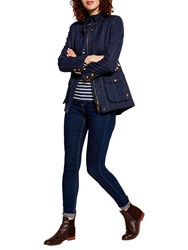 Joules Fieldcoat Tweed Coat Navy Tweed