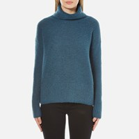 Boss Orange Women's Wilke Roll Neck Jumper Green