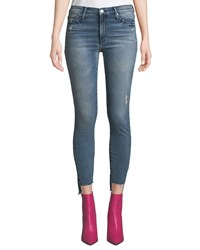 Black Orchid Miranda Step Hem Distressed High Rise Skinny Jeans Gust Of Wind