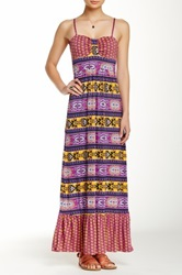 Rampage Printed Maxi Dress Purple
