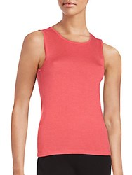 Oscar De La Renta Silk Blend Tank Top Amaranth