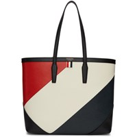 Thom Browne Black Bold Diagonal Stripe Bucket Tote