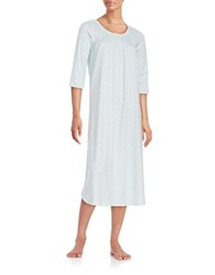 Miss Elaine Pin Tucked Nightgown Aqua