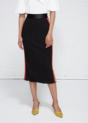 Ellery 'S Dasha Rib Skirt In Black Red Yellow Size 6 Viscose Polyester Polyester Contrast Black Red Yellow