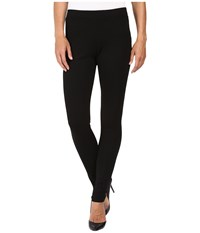 Hue Fleece Lined Ponte Leggings Black Women's Casual Pants
